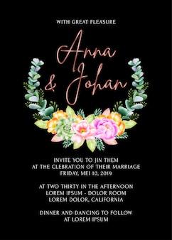 Красота цветочная рамка свадебное приглашение