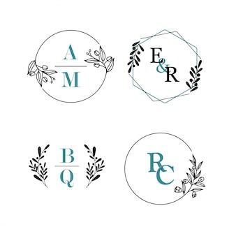 Красота цветочные рисованной с акварельным логотипом