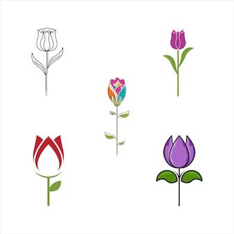 美容花屋ベクトルアイコンデザインテンプレート