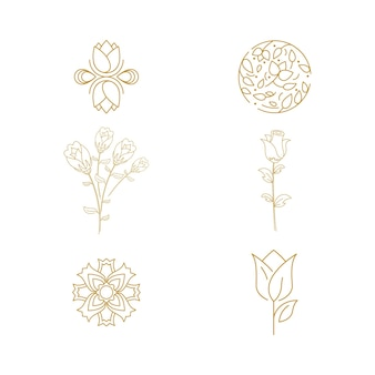 Красота флорист вектор значок дизайн шаблона