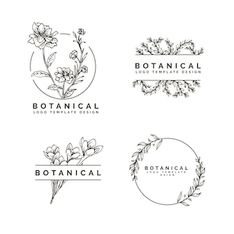 Beauty flower and botanical hand drawing style design