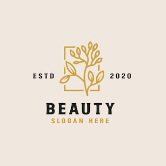Beauty flower logo template