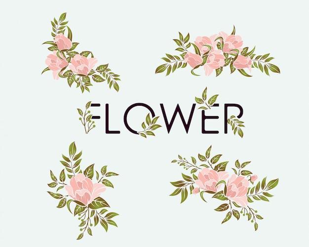 美容花セットデザイン要素