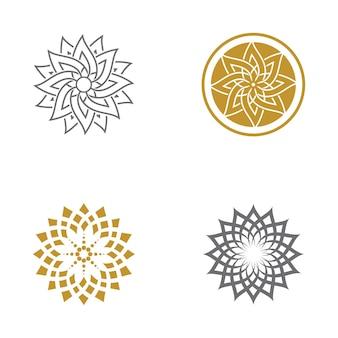 Шаблон оформления векторных иконок красоты цветок