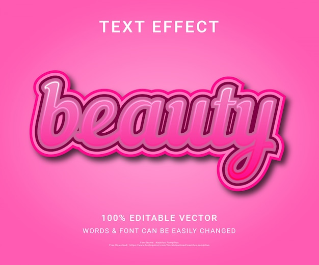 Beauty full editable text effect