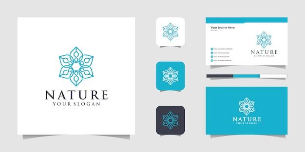 미용 기하학 로고 디자인, 미용실, 스파, 요가 및 패션 및 명함 영감에 사용할 수 있습니다.