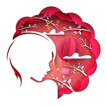 Beauty girl illustration