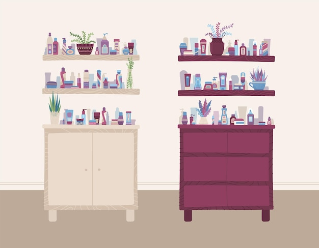 Beauty and health store interior