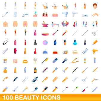 Beauty icons set. cartoon illustration of  beauty icons  set  on white background