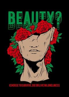Дизайн футболки одежды искусства иллюстрации красоты
