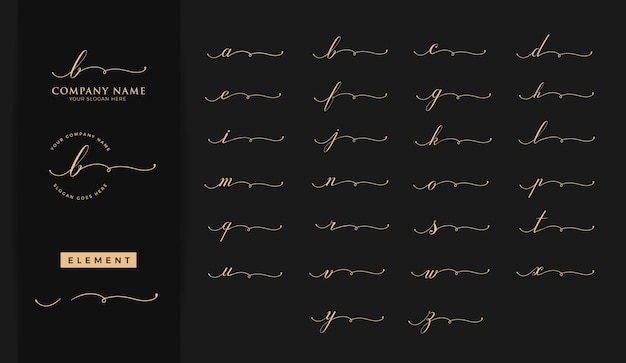 美しさの頭文字のロゴデザイン