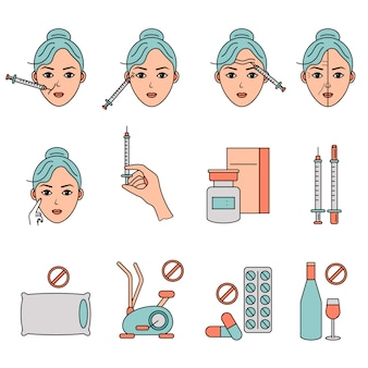 Beauty injection line icon