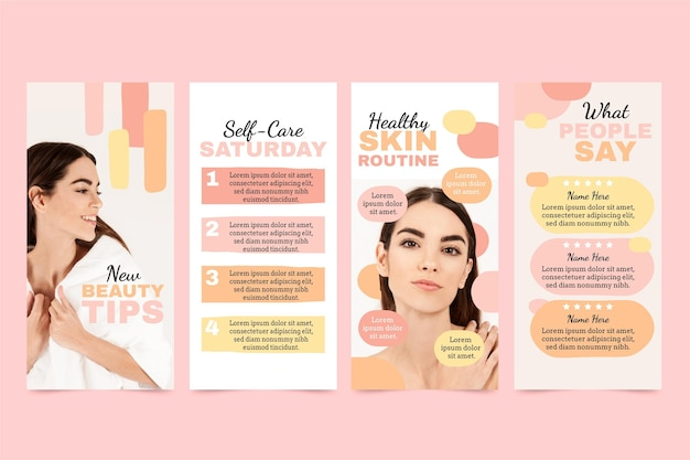 Beauty instagram stories collection