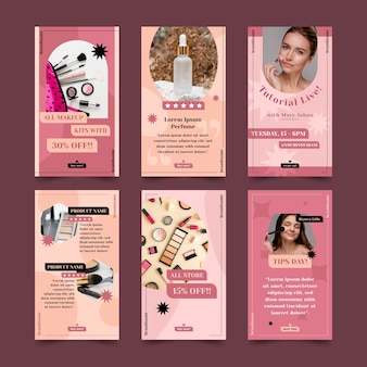 Beauty instagram story collection