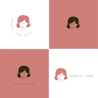 Beauty lady logo
