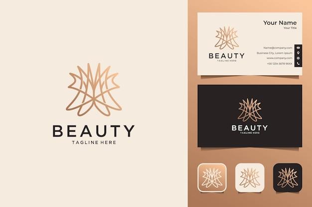 Beauty line art для дизайна модного логотипа и визитной карточки