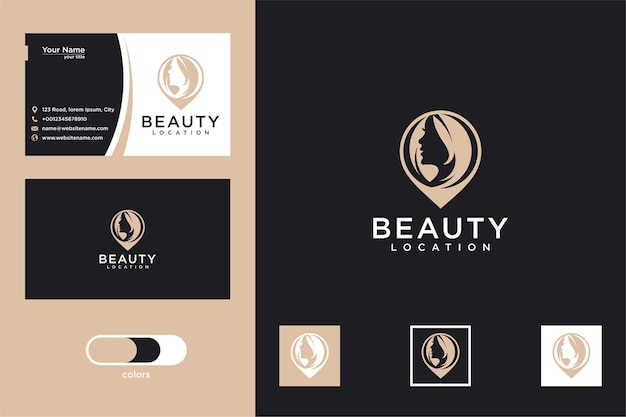 Beauty location logo design and business card