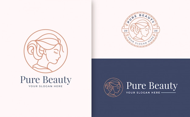 Beauty logo branding template