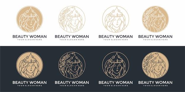 美容ロゴデザインテンプレートセット