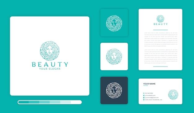Beauty logo design template