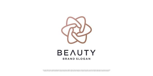 Дизайн логотипа красоты с минималистичной концепцией линий premium vector часть 3