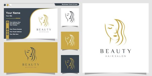 モダンなスタイルのプレミアムベクトルとサロンの美しさのロゴ