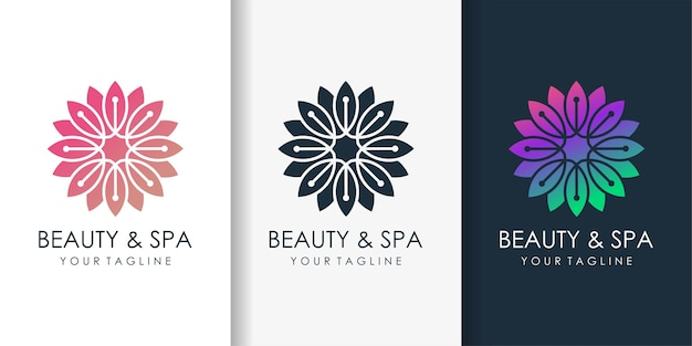 Логотип красоты для спа и велнес