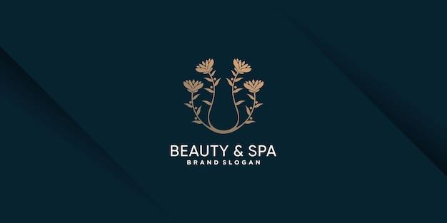 Логотип красоты с концепцией креативного элемента premium vector часть 2
