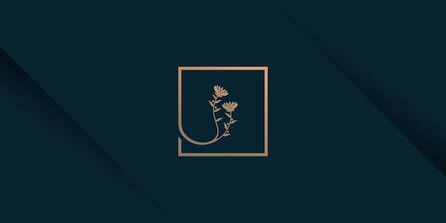 Логотип красоты с концепцией креативного элемента premium vector часть 3