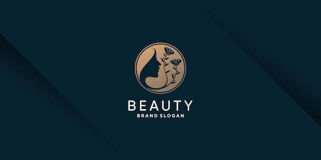 Логотип красоты с концепцией креативного элемента premium vector часть 6