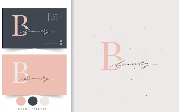 Beauty logotype and business card template.