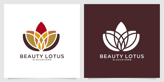 아름다움 연꽃 우아한 로고 디자인