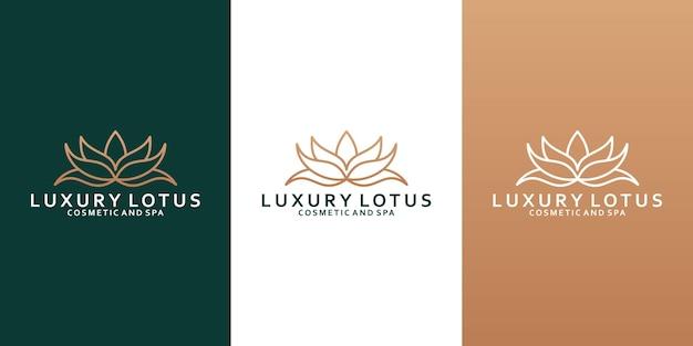 Дизайн логотипа лотоса красоты для вашего бизнес-спа, салона, йоги