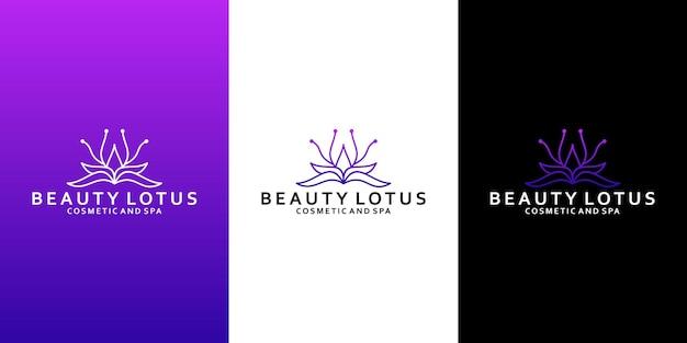 Дизайн логотипа лотоса красоты для вашего спа, салона, йоги