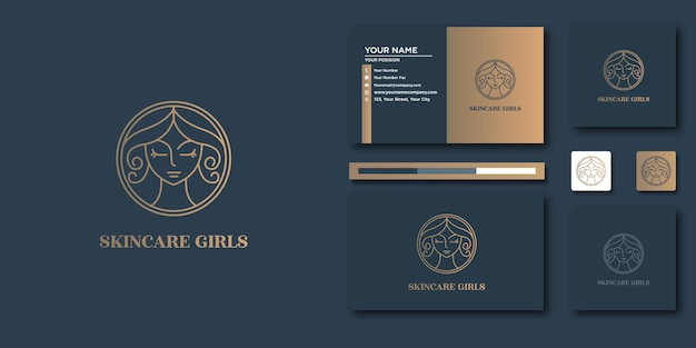 ビューティーラグジュアリーロゴ。ロゴと名刺のデザインのための豪華な要約