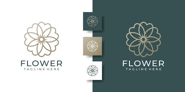 Красота роскошный минималистичный цветок элегантность цветочный шаблон логотипа