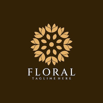 Beauty minimalist flower logo vector nature for hotel resort and spa