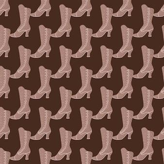 베이지색 간단한 장식으로 아름다움 현대 완벽 한 패턴입니다. 갈색 배경입니다. 스타일 아트웍. 계절 섬유 인쇄, 직물, 배너, 배경 및 배경 화면에 대한 벡터 일러스트 레이 션.