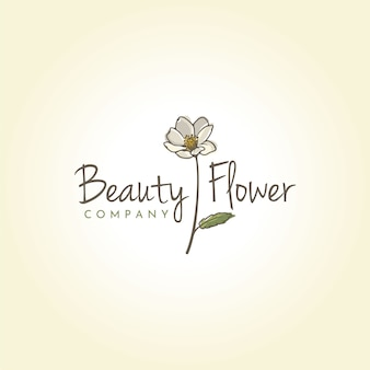 Beauty mountain aven flowerのロゴデザイン