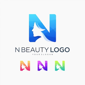 Beauty n letter logo beautiful