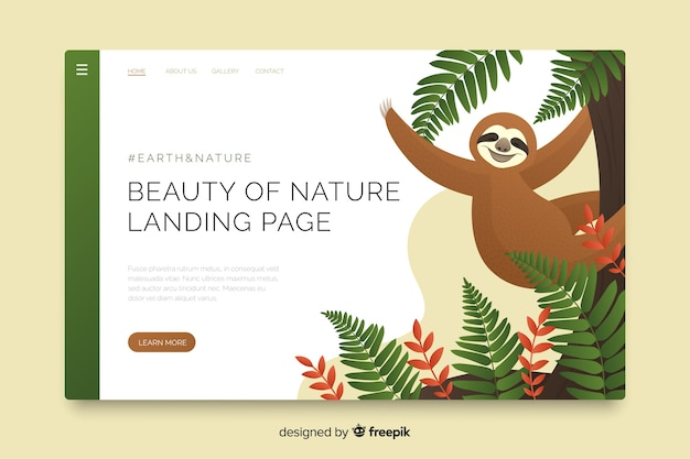 Beauty of nature landing page