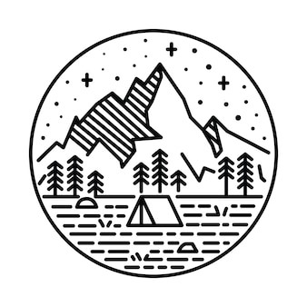 Beauty nature line graphic illustration art t-shirt design