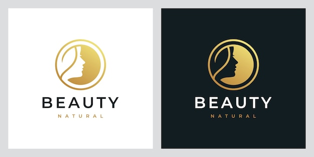 Beauty nature,natural spa, cosmetic, logo design inspiration