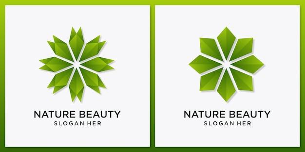 幾何学的な自然の花の美しさ