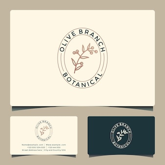 Beauty olive branch logo design for your business saloon, spa, cosmetic,