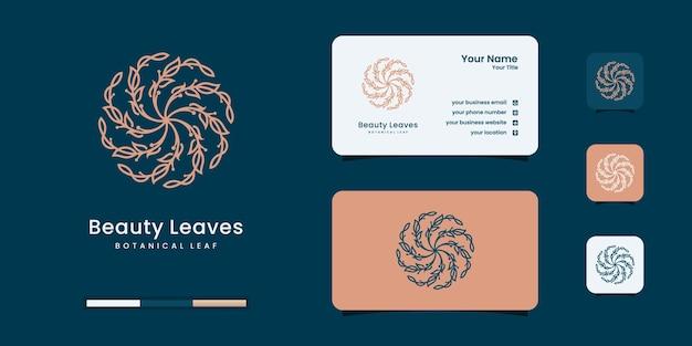 美容オリーブオイルのロゴデザインのインスピレーション。