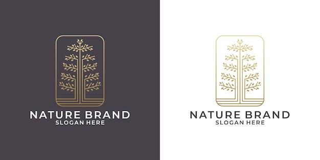 あなたのビジネス、サロン、スパ、ファッションなどのための美容オリーブの木のロゴデザイン