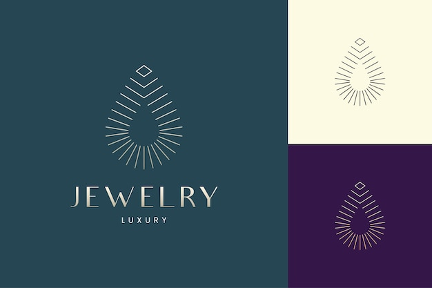 Логотип красоты или спа в роскошной золотой форме