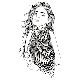 Beauty owl girl