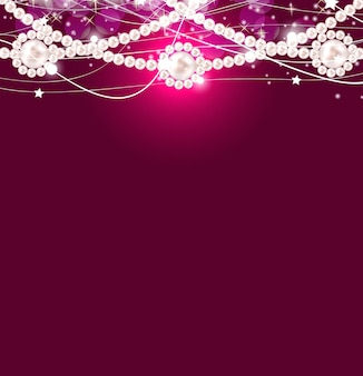 Beauty pearl background vector illustration
